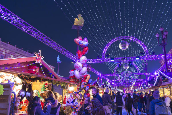 Nice Christmas Market, Place Massena, Nice, France