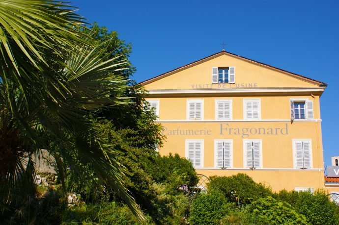 The yellow facade of the Granorad museum in Grasse