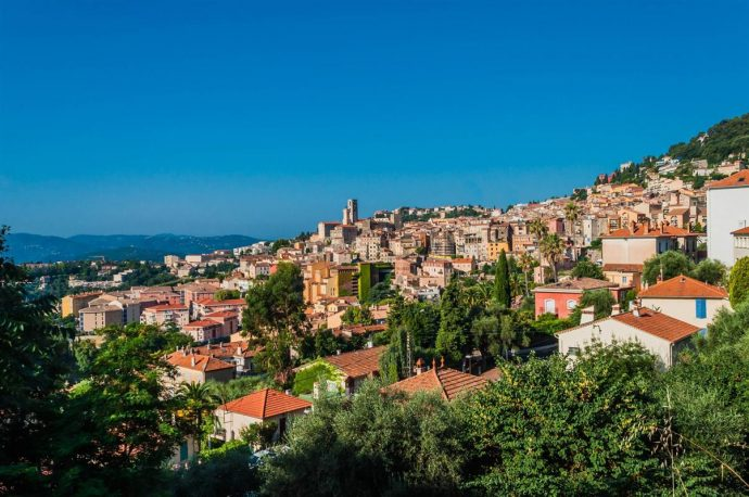 view of the town of grasse