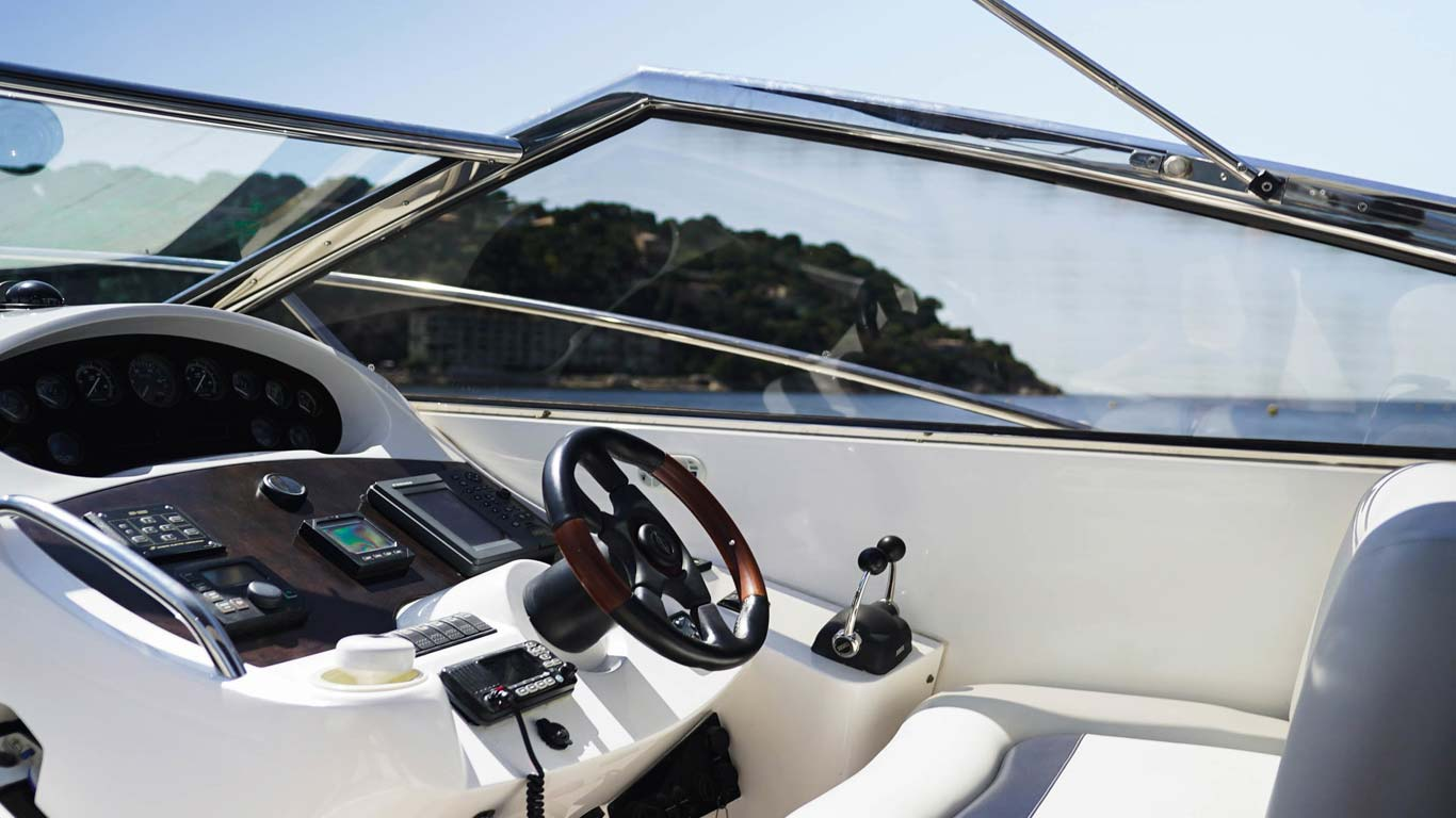 A sunseeker portafino set up for lunch on the French Riviera, Day trips from Nice, France