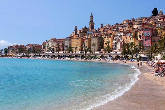 The Beach and Menton