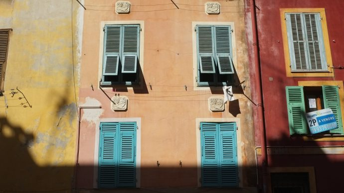 orange facade old nice