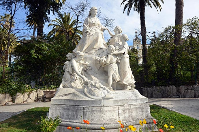 The Victoria Monument in Nice, France