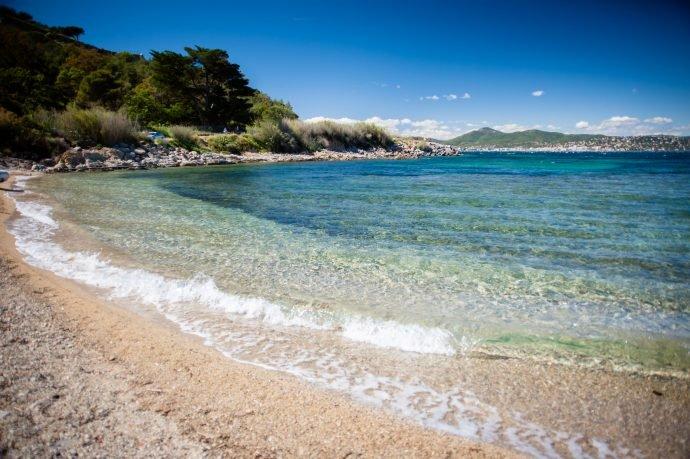 beautiful beach clear water
