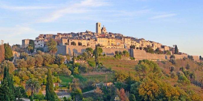 The beautiful hilltop town of St. Paul de Vence