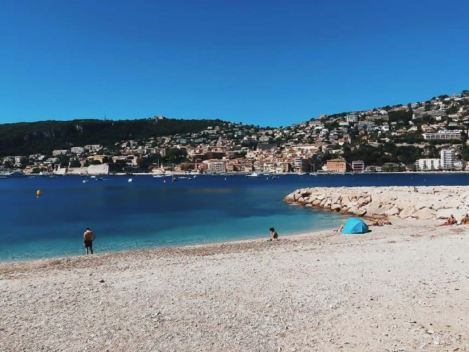 villefranche beach gardien angel