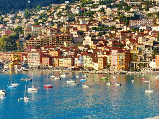 A beautiful fishing village with beach and old town, Villefranche Sur Mer